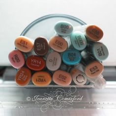 Copic Marker Tutorial. Love this color combo