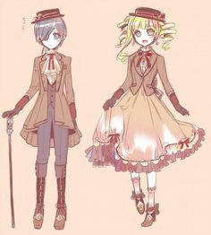 Kuroshitsuji Ciel and Elizabeth I actually think they are really cute together. Don't like the other ships.