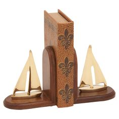Sailboat Bookend (Set of 2)