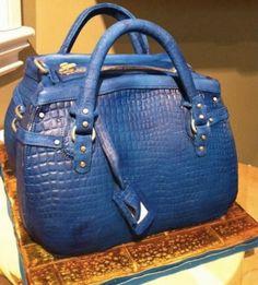 Phenomenal purse cake!  Tutorial on Craftsy.com