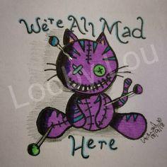 Tattoo Now, Cat Tattoo, Tattoo Drawings, Voodoo Doll Tattoo, Voodoo Dolls, Sugar Skull Tattoos, Sugar Skull Art, Vodoo Tattoo, Hummingbird Flower Tattoos