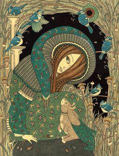 Anita Inverarity | INK on illustration board | Jackalope Garden