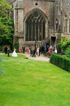 Castle Wedding at Bishop's Palace by Wells Cathedral, Wells, UK (2013 Trip)