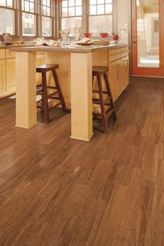 Bamboo Flooring from Home Decorators Collection has a 7-layer finish to protect from everyday wear. This durable flooring option is perfect for modern, traditional and transitional interiors.