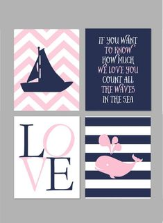 50% Off Baby Girl Nautical Nursery Pink and by fairplayprintables