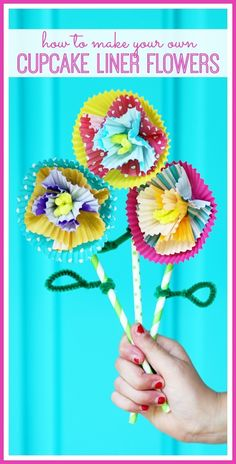 How to make cupcake liner flowers from MichaelsMakers Sugarbee Crafts