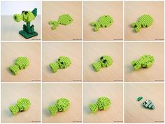 Chris's Nanoblock Blog: nanoblock Plants Vs Zombies Pea Shooter build instructions