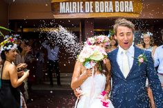 Bora Bora Wedding Destination. Legal married in the Civil Hall of Bora Bora