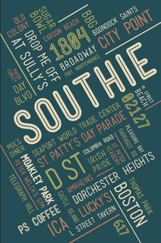 SOUTHIE Poster 11 x 17 by MCompetielloDesigns on Etsy, $30.00