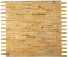 ISI  Mini Brick Victorian, Uniform Brick, Wood, Glossy, Cream/Beige, Glass