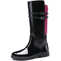 Women's Zipper Mid Calf Rain Boots >>> Click image for more details. (This is an affiliate link) #Outdoor