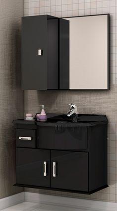 Para deixar o banheiro mais organizado, os armários são essenciais. Seja para ambientes grandes ou para ambientes pequenos.