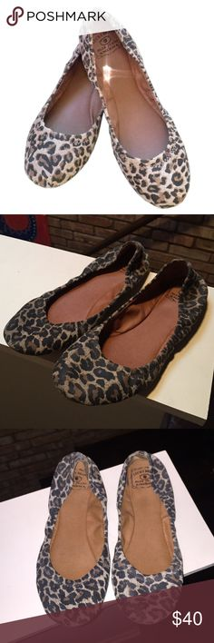 Lucky brand Emmie leopard print flat Lucky brand Emmie flat in leopard print. Good used condition. Perfect for fall! Lucky Brand Shoes Flats & Loafers