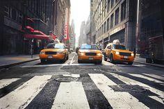 Papier peint photo Taxis à New York - Izoa