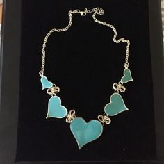 Turquoise and gold heart fashion necklace Turquoise and gold heart fashion necklace beautiful with any outfit! Jewelry Necklaces