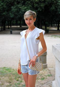 2_camicia bianca h&m pantaloncini corti pizzo