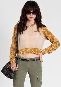 Digi Crushed Velvet Top By Gypsy Junkies #threadsence #fashion