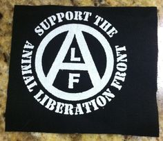 animal liberation front | Support the Animal Liberation Front - ALF - Patch (Off White on Black)