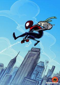 Miles Morales Spider-Man by AbigailRyder.deviantart.com on @deviantART