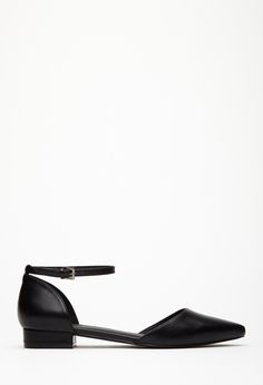 Pointed Ankle-Strap Flats | FOREVER21 - 2000134622