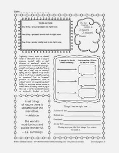 Adventures in Guided Journaling: Printable Journal Pages. Several FREE pages!