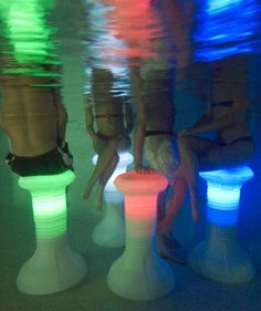 The Pool Stool with LED Light - Swimming Pool Accessories