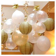 Round Paper Lanterns - Gold (5 Count)