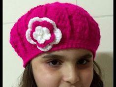Diy - Boina em Crochê Ingrid - 18 cm altura 54 cm circunferência - Graça  Tristão bc3bbc95b98