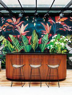 Hotel Arroyo, Buenos Aires: Barra de bar con papel pintado