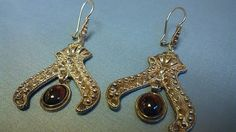 Sterling Silver Earrings with Garnet by AvasSouthampton on Etsy, $32.00