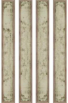 living rm:  Grace Antiqued Mirrors - Set of 4 - Wall Mirrors - Home Decor | HomeDecorators.com