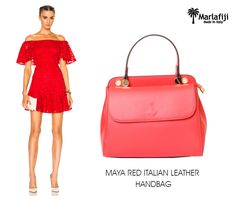 "Stand out in the crowd this season with Maralfiji Maya red handbag ... we just love this bag compact and smart dress up or dress down.Add a bit of color to your wardrobe.     Shop Now ---->https://goo.gl/imVZ8A  ""FREE SHIPPING WITHIN AUSTRALIA""!! #Marlafiji #TopModel #Italian #leatherhandbags"