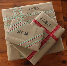 DIY Your Own Festive Holiday or Christmas Gift Wrapping Paper!
