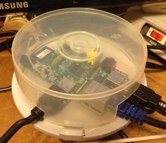 Raspberry pi case made from a cd case