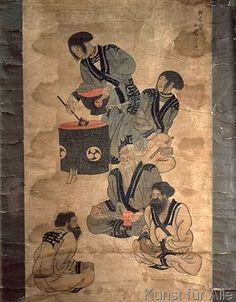 AKG Anonymous - Ainu family / Japanese painting, C.18th
