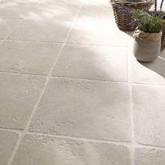 Carrelage blanc effet pierre Toscane l.32.5 x L.32.5 cm | Leroy Merlin