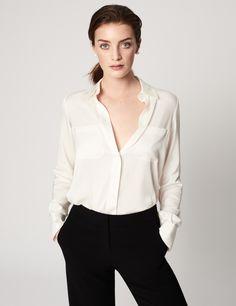 83e15516fa2586 Button-Up Silk Shirt - Spring 2016 Winser London