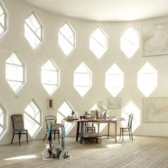 natural light via beautiful hexagonal windows in the Melnikov House Light Architecture, Architecture Details, Interior Architecture, Interior And Exterior, Interior Design, Be Light, White Light, My Dream Home, Lighting Design