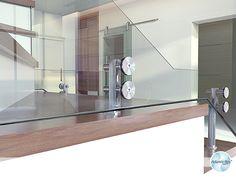 Guarda corpo de vidro com Aço Inox - D SINGLE - AtlanticBox