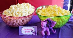 Cloudsdale snacks at My Little Pony party by Renee's Soirees