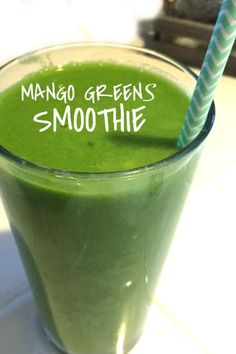 Mango Greens Smoothie - Julia's Simply Southern - Mango Greens Smoothie This quick and easy green smoothie recipe is made with fresh greens and mango. So delicious and refreshing. A perfect healthy breakfast idea. Easy Green Smoothie Recipes, Green Detox Smoothie, Smoothie Prep, Easy Smoothies, Fruit Smoothies, Breakfast Smoothies, Nutritious Smoothies, Detox Breakfast, Smoothie Cleanse