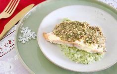 Kerstafette – Zalm met broccolipuree en notenpesto – 5 OR LESS Love Food, A Food, Scallops, Avocado Toast, Broccoli, Foodies, Healthy Lifestyle, Healthy Recipes, Healthy Food