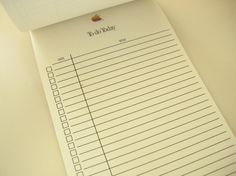 """Vintage 1980s Apple Computer Lined Notepad """"To Do Today"""" Apple Logo 8.5 x 5.5 (10/20/2015) $12"""