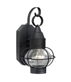 Vaxcel SR53113TB Nautical Smart Lighting Outdoor Sconce, Textured by Vaxcel. $83.70. Size:Large, Finish:Textured Black, Glass:Seeded, Light Bulb:(1)100w A19 3-Way Med C Incand Nautical Smart Lighting outdoor sconce with photocell and timer.   Save energy with two levels of illumination: bright illumination during the early evening, and dim illumination the rest of the night. No need for energy-consuming dimmers.  Light is off during the day.  Choose early evening...