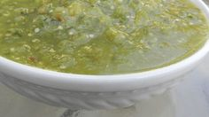 This authentic Mexican salsa verde has a fabulous flavor. Use it on chicken enchiladas or as a condiment for any dish that needs a little extra zip!