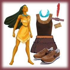 Pocahontas: Yet another underrepresented princess - MY costume for the Disney half marathon.... now to find brown vibrams!