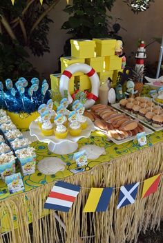 Spongebob Squarepants Party Food Table