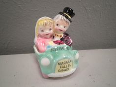 Vintage Wedding Cake Topper Bride and Groom Pink and by hopsack, $30.00
