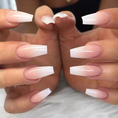 Young Nails Inc on Ombres are way prettier than French nails. Nails Inc, My Nails, French Acrylic Nails, Best Acrylic Nails, French Fade Nails, Ombre French Nails, Natural Acrylic Nails, Pink Ombre Nails, Matte White Nails