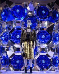 """DLT DEPARTMENT STORE, St. Petersburg, Russia, """"The Blue Flower Kaleidoscope"""", pinned by Ton van der Veer"""